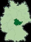 La Thuringe en vert foncé